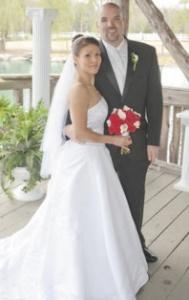 Shane Goddard's wedding picture on April 11, 2009